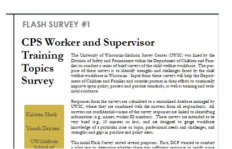 Flash Survey One